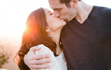 Sweet & Chic Observatory Engagement Shoot in LA