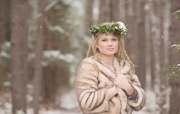 Magical Snow & Lavender Winter Wedding Inspiration Shoot