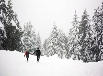 Snowy Engagement Shoot in Canada | Nadia Hung Photography | Bridal Musings Wedding Blog22