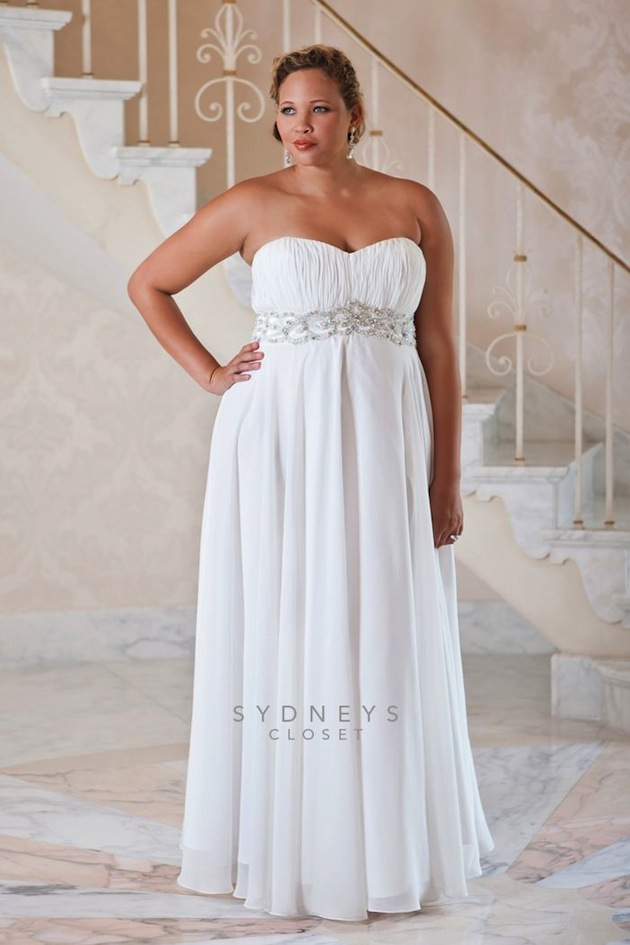 Top 10 Plus Size Wedding Dress Designers By Pretty Pear Bride,A Simple White Wedding Dress