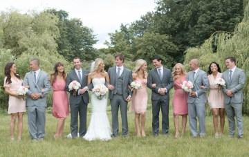 Romantic Pink, Grey & Gold Vancouver Wedding