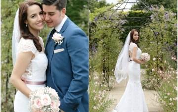 Pink and Grey Polka Dot Wedding | Dasha Caffrey Photography | Bridal Musings Wedding Blog 3