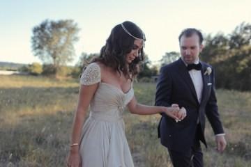Reem Acra wedding dress | chic California wedding | Traci Griffin Photography | Bridal Musings 44
