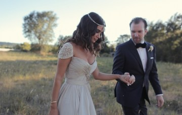Stylish California Wedding + A Stunning Bride in A Reem Acra Wedding Dress