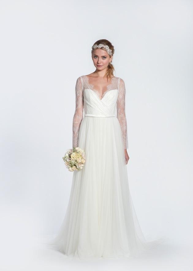 f7ec18f4170 Long Lace Sleeve Wedding Dress. princess new princess product. 2015 ...
