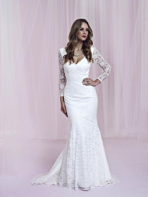 9fd267e75ef Sleeve Wedding Dress. lace long elegant long. noble ball v neck ...