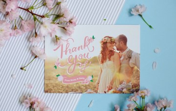 Gorgeously Unique & Personal Wedding Photo Cards By Berinmade