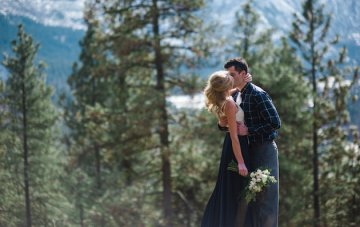 Stunning Mountainside Elopement with a Picnic for Two