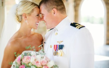 Intimate Military Wedding with a Groom in Navy Whites and Stunning View Over Oklahoma City