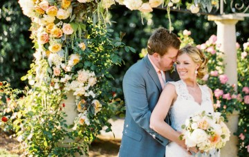 Rustic Romance; A Beautiful Rose Garden Wedding
