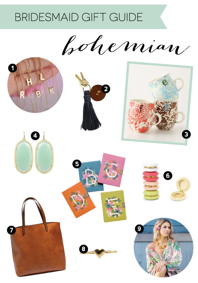 Gift Guide for Bohemian Bridesmaids