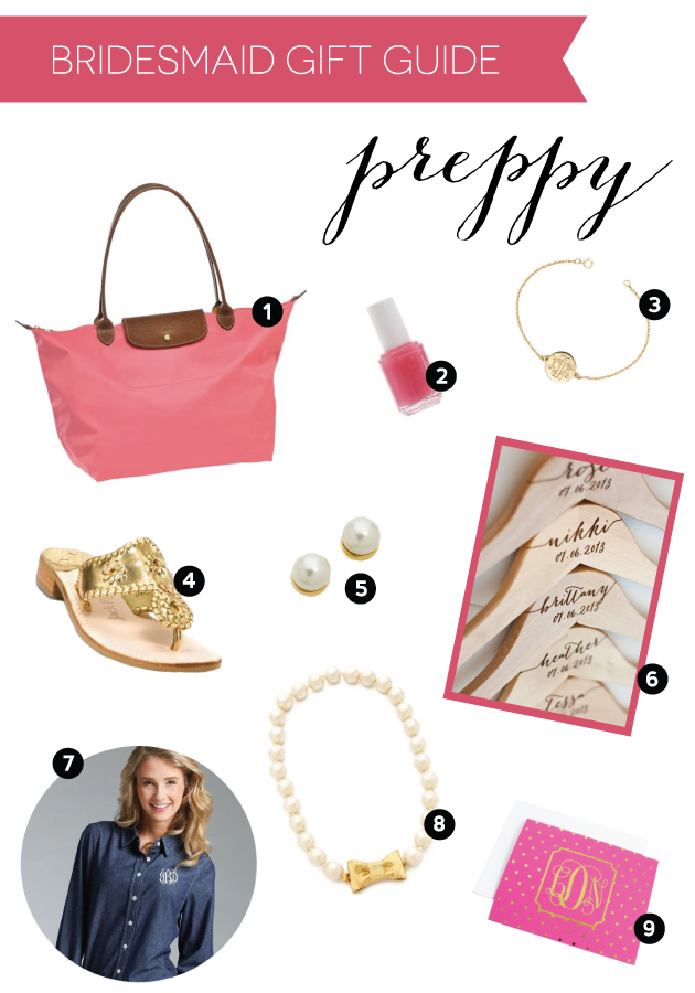 Gift Guide for Preppy Bridesmaids