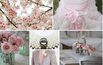 Mercury Glass and Blossoms Wedding Inspiration Board