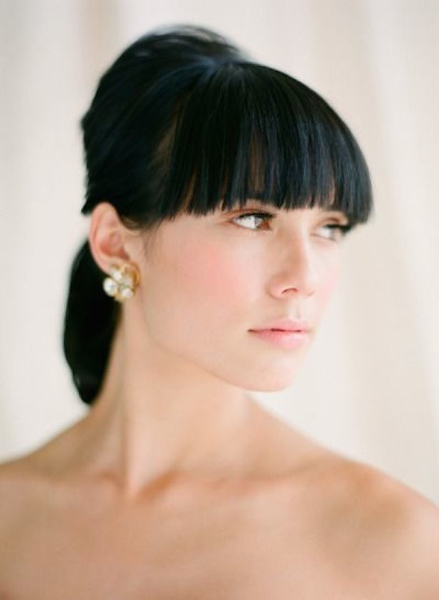 Brides with Pony Tails | Pony Tail Wedding Hair | Bridal Musings Wedding Blog10