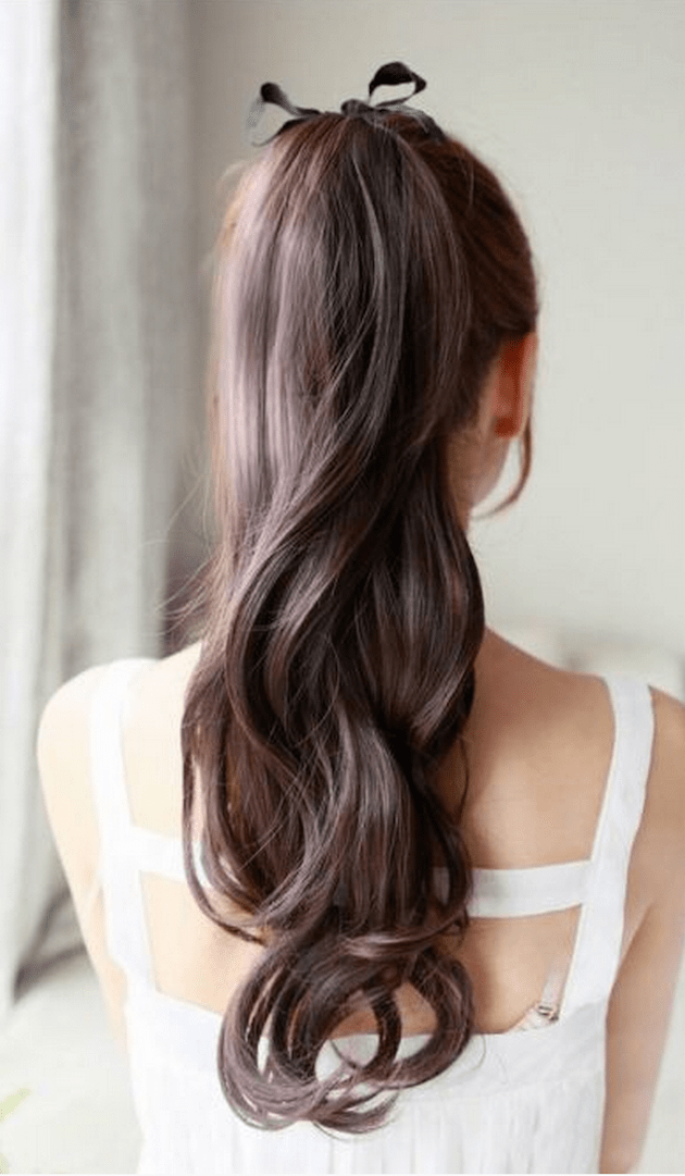 Brides with Pony Tails | Pony Tail Wedding Hair | Bridal Musings Wedding Blog11