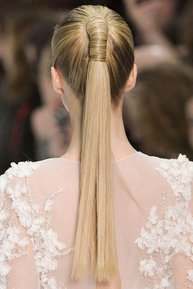 Brides with Pony Tails | Pony Tail Wedding Hair | Bridal Musings Wedding Blog13