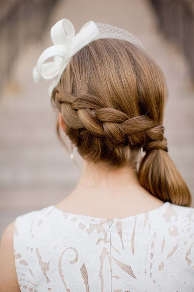 Brides with Pony Tails | Pony Tail Wedding Hair | Bridal Musings Wedding Blog3