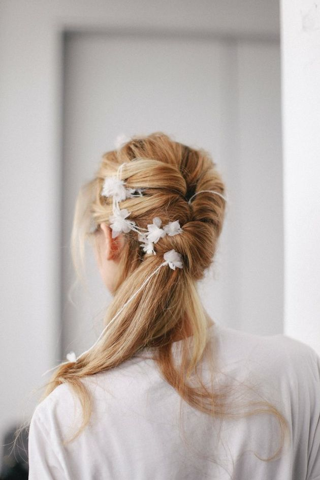 Brides with Pony Tails | Pony Tail Wedding Hair | Bridal Musings Wedding Blog7
