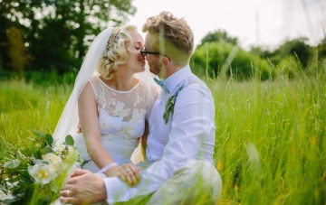 Pretty Festival Wedding Filled With Fun and Games