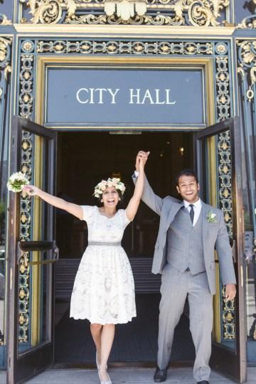 Gorgeous City Hall Wedding | Silvana DiFranco Photography | Bridal Musings 5