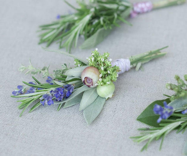 Herb Wedding Ideas   Herb Bouquets   Bridal Musings Wedding Blog 15