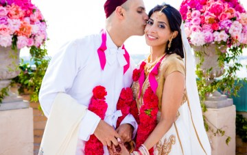 Chic and Vibrant Indian Rooftop Wedding in New York