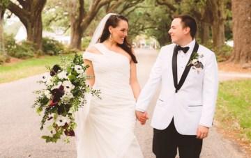 Elegant Backyard Wedding with Festive Hues