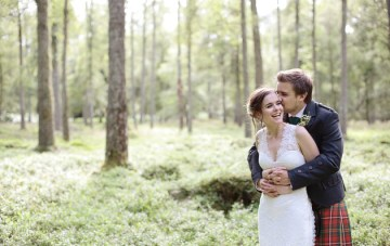 Scottish Countryside Wedding filled with Flowers, Cakes and Kilts