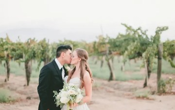 Lavender, Blue & Green; An Ombre Wedding on a Winery