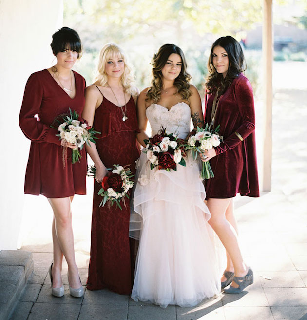71886b6f421 Red Velvet. Mix and Match Bridesmaid Dress Ideas ...