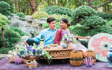 Tea Ceremony Engagement; Japanese Wedding Inspiration