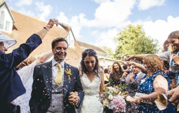 Rustic, DIY, (and Bunting-Filled) English Farm Wedding