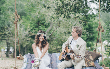 Cool, Musical, Bohemian Wedding (With a Campfire Singsong!)