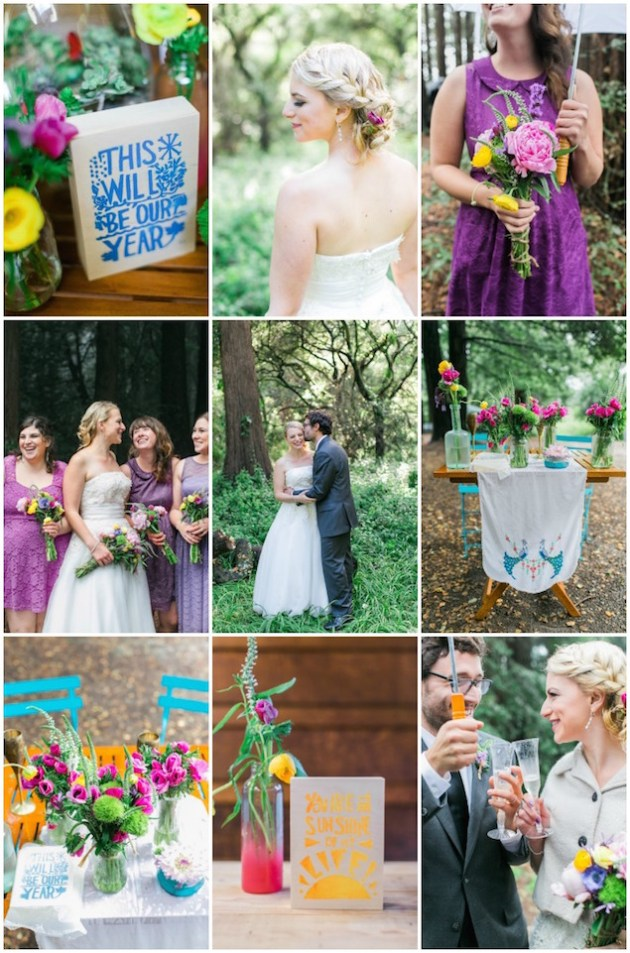 Colourful Redwoods Wedding in the Rain | Caitlin Turner Photography | Bridal Musings Wedding Blog