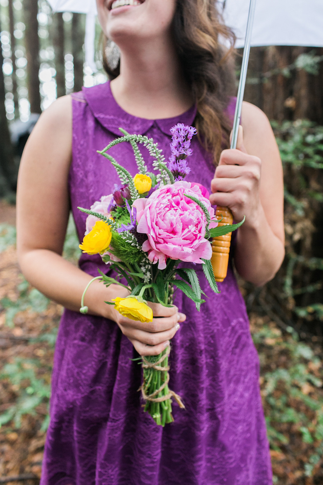 Colourful Redwoods Wedding in the Rain | Caitlin Turner Photography | Bridal Musings Wedding Blog 14