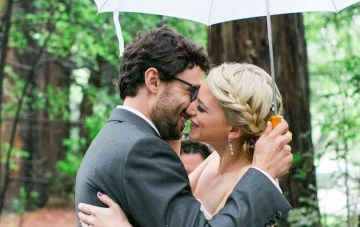 Colourful Oakland Redwood Wedding in the Rain