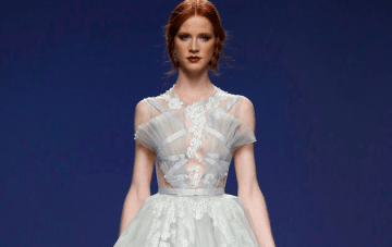 Sheer Polka Dots, Intricate Lace & Ribbons Galore! The Marco And Maria Wedding Dress Collection 2016