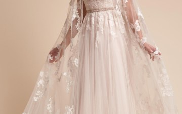 10 Stunning Bridal Capes and Capelets – BHLDN Anastasia Cape