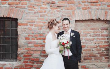 Sweet Italian Wedding with Rustic DIY Styling