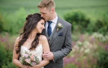 Rustic English Barn Wedding with Pretty DIY Details