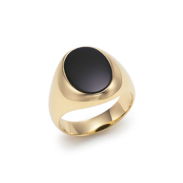7e3cacdc7 Engagement Rings for Men | Men's Engagement Ring | Bridal Musings Wedding  Blog 16. Gold with black onyx. Ring by Tiffany