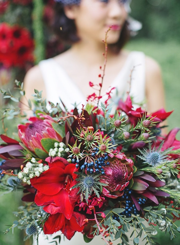 Festive Florals Beautiful Bouquet Recipes For Winter Weddings