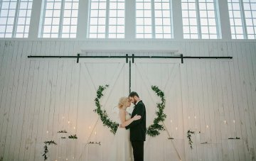 Fine Art Winter Barn Wedding Inspiration, with Organic Hues