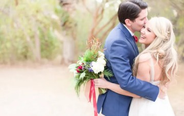 Beautiful Evergreen Winter Wedding in Arizona