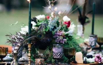 Luxuriously Moody Halloween Wedding Inspiration