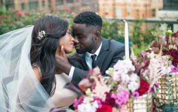 Jewel-Toned Rooftop Wedding Inspiration