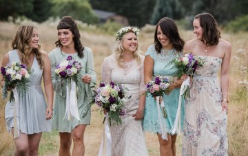 Cool Boho Summer Wedding in Canada