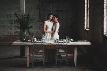 Moody & Modern Warehouse Wedding Inspiration by Jonathan Kuhn Photography 10