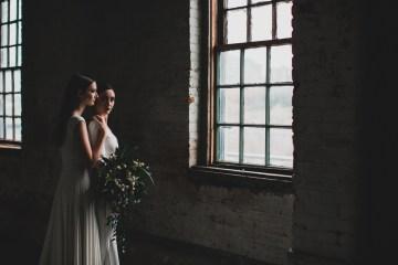 Moody & Modern Warehouse Wedding Inspiration by Jonathan Kuhn Photography 13