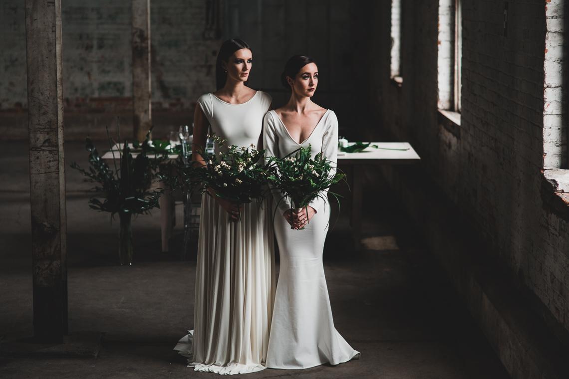 Moody & Modern Warehouse Wedding Inspiration by Jonathan Kuhn Photography 24
